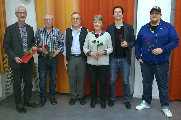 Ehrung langjähriger Mitglieder bei der Mitgliederversammlung der SPD Hilpoltstein