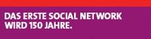 Logo Das erste Social Network wird 150
