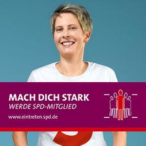 Banner Mach dich stark! Werde SPD-Mitglied