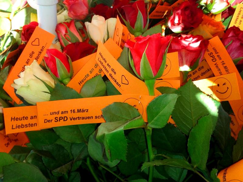 300 Rosen Wurden An Die Frau / Den Mann Gebracht.