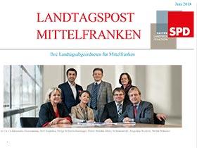 Bild Landtagspost Mittelfranken Juni 2018