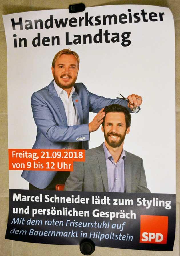 Plakat Marcel Schneider am 21.9.2018 in Hilpoltstein